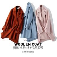 毛呢外套中长款2018新款秋冬季加厚修身双面呢子赫本大衣女小个子