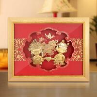 卧室摆件挂件结婚送朋友新婚礼物家居装饰框画