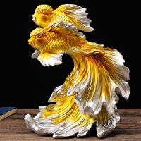 欧式创意客厅装饰品结婚礼物创意家居一对实用工艺品礼品 明黄色 款式3
