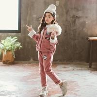 女童冬装套装2018新款5岁韩版加绒4洋气两件套8时尚潮衣10岁童装