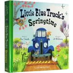 英文原版绘本 Little Blue Truck's Springtime 蓝色小卡车 大开本纸板书 趣味翻翻书 交通