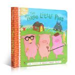 顺丰发货 英文原版The Three Little Pigs 三只小猪 儿童早教认知抽拉机关纸板书幼儿经典故事启蒙绘本