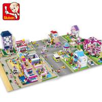 小鲁班兼容乐高积木女孩梦幻小镇拼装玩具儿童塑料拼插玩具6-8-10-12岁以上 儿童节礼物