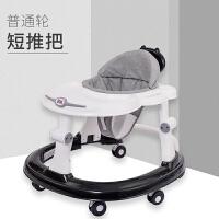 宝宝学步车可坐手推车婴儿学步车侧翻8-18个月男宝宝女孩幼儿童多功能手推可坐 黑灰色 基础版