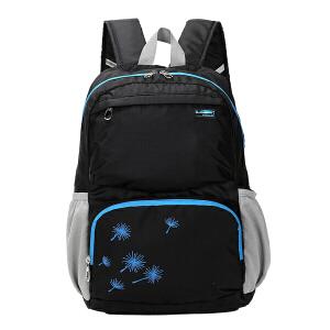 卡拉羊简约多功能休闲大容量男女旅行笔记本电脑背包双肩包CX5683