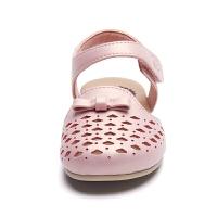 童鞋夏季女宝宝学步鞋凉鞋镂空蝴蝶结包头