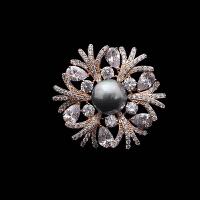 花型贝珠珍珠胸针女时尚饰品宴会胸花
