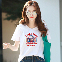 【特价清仓】纯棉白色短袖印花T恤女2018春夏装新款纯棉韩版宽松体恤上衣服