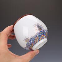 陶瓷密封罐旅行茶罐迷你小号随身存储罐便携式茶叶罐礼盒包装