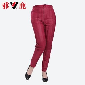 雅鹿羽绒裤女内穿 中老年女装加厚大码高腰护膝妈妈装裤子YP7050