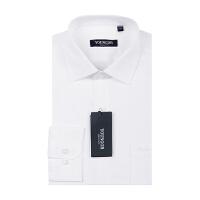 雅戈尔长袖白衬衫PM14544-03男士白色衬衣纯色