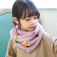 儿童围脖秋冬男童女童仙人掌保暖围巾韩版婴儿宝宝加厚脖套2018冬 2-10岁