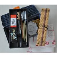18色国画颜料套装工具17件套装 画笔笔墨纸砚俱全 书法毛笔练习