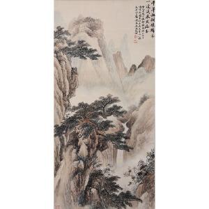 C065 吴湖帆(附出版)《松泉飞瀑》