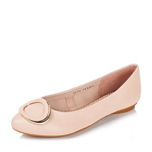 【鞋靴超级品类日】BASTO/百思图专柜同款山羊皮浅口女单鞋TCY41CQ6