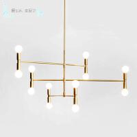 现代简约客厅灯餐厅灯具卧室艺术创意个性大气电吊灯