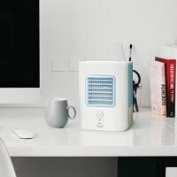 制冷风机USB加湿器桌面办公室迷你便携空调风扇无叶