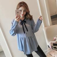 孕妇装2018秋装新款韩版宽松长袖上衣孕妇托腹长裤两件套套装