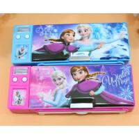包邮迪士尼正品文具盒小学生多功能夹白板铅笔盒两个按键铅笔盒男女孩创意批发文具盒