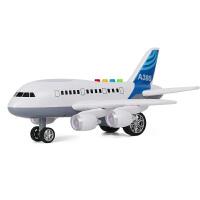 飞机音乐男孩宝宝玩具车客机故事灯光 模型大惯性儿童玩具