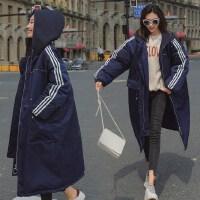 孕妇棉衣女冬装外套2018新款孕妇羽绒韩版中长款200斤袄