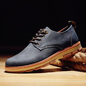2017春季新款新品大头皮鞋英伦男鞋子工装鞋男士休闲鞋复古厚底男潮鞋G10JQ支持
