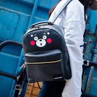 酷MA萌熊本熊形象款PU双肩包女生书包背包17KM113