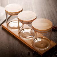 调味罐套装调料罐三件套杂粮茶叶蜂蜜储物罐