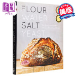 【中商原版】面粉・水・盐・酵母 英文原版 饮食文化 Flour Water Salt Yeast Ken Forkis