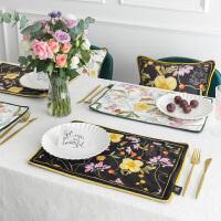 田园花卉 双层西餐垫布艺隔热垫杯垫餐桌垫垫碗盘垫茶垫