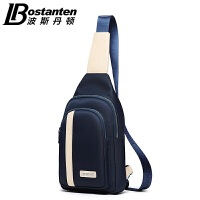 (可礼品卡支付)波斯丹顿男胸包腰包韩版时尚休闲单肩户外运动斜挎帆布背包男包潮B5151021