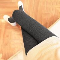 茉蒂菲莉 打底裤 女士螺纹竖条加绒踩脚裤袜冬季新款韩版女式时尚休闲舒适百搭学生裤靴