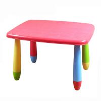 20180602012128748儿童桌椅 幼儿园桌椅子宝宝学习桌椅彩色塑料游戏桌画画桌