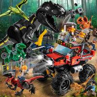 �犯呋慊�木男孩子恐龙系列侏罗纪公园世界3拼装儿童6玩具12岁模型