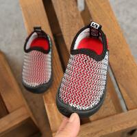 夏季婴儿学步鞋男宝宝透气单网鞋女童一脚蹬镂空凉鞋
