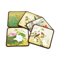 故宫博物馆收藏工笔丝绸杯垫中国风创意文化纪念品