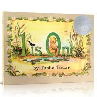 英文原版 1 IS ONE 1 一就是一 美国凯迪克银奖儿童英语数字启蒙绘本 2-3-5-6-8岁儿童启蒙学习图画书