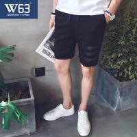 20180401002752230新款夏季运动短裤 男士休闲五分裤夏天修身5分中裤子青年潮沙滩裤