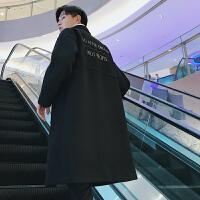 新款毛呢大衣男中长款过膝外套韩版潮流男神西装领秋冬季呢子衣服