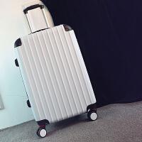 kuansen男士拉杆箱学生旅行箱24行李箱男潮韩版个性青年密码箱皮箱子20寸 白色 磨砂防刮