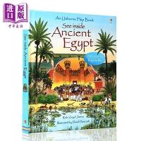 【中商原版】Usborne See Inside系列 看里面古代埃及 Ancient Egypt 低幼科普翻翻书认知启蒙