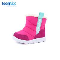 【2件3折后到手价:119.4元】天美意teenmix童鞋18冬季新款婴幼童时尚简约靴子儿童短靴宝宝户外鞋加绒保暖亲肤
