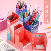 网红笔盒多功能可折叠站立文具盒可变形可以变成笔筒式一体铅笔盒密码小学生男女学霸ins潮抖音创意个性搞怪
