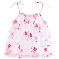 女宝宝吊带背心衫纯棉纱布公主无袖上衣夏季薄婴儿夏装