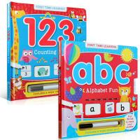 英文原版First Time Learning ABC Alphabet Fun 学习123 ABC字母乐趣2本套装