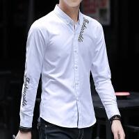 新款2018男士长袖男士个性长袖衬衫夜店男装衬衫长袖韩版潮流