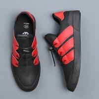 新款上架休闲青春潮流男板鞋运动男鞋子懒人鞋透气软和拼色青年鞋