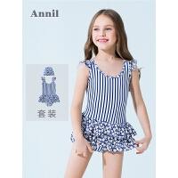 【3件3折:89.7】安奈儿童装女童连体泳衣套装夏装新款