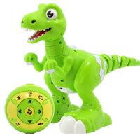 恐龙玩具智能会走路喷火仿真动物模型机器人玩具电动遥控霸王龙