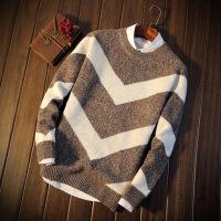 冬季男装低领毛衣男韩版修身学生秋冬款加厚帅气打底针织线衫